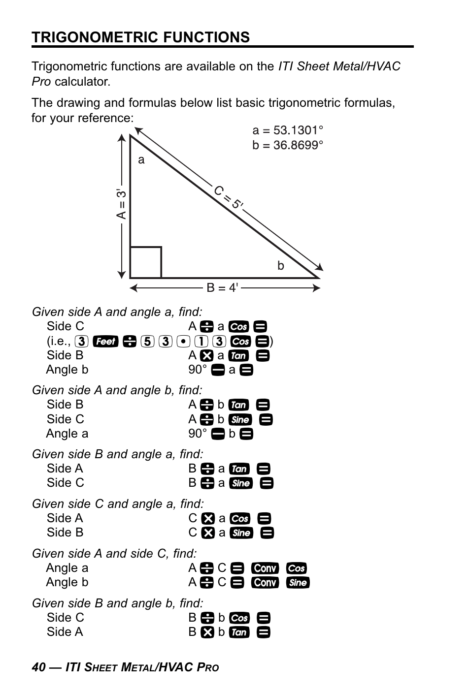 medium resolution of trigonometric functions calculated industries 4090 user manual page 41 123