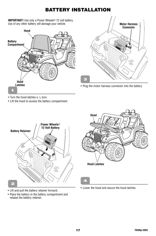 small resolution of barbie jeep wiring diagram