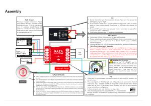 Assembly, Aircraft nose | DJI NazaM Lite User Manual | Page 8  45 | Original mode