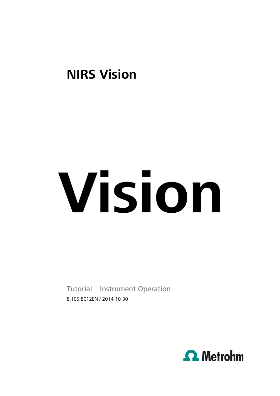 Metrohm Vision
