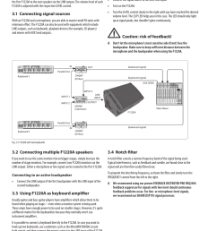 operation 1 connecting signal sources 2 connecting multiple f1220a speakers behringer eurolive f1220a user manual page 7 10 [ 954 x 1295 Pixel ]