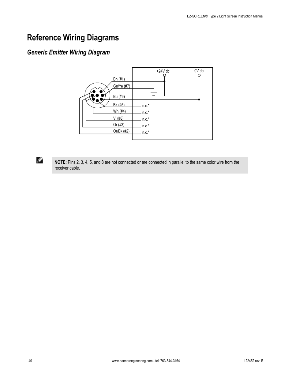 Reference wiring diagrams, Generic emitter wiring diagram