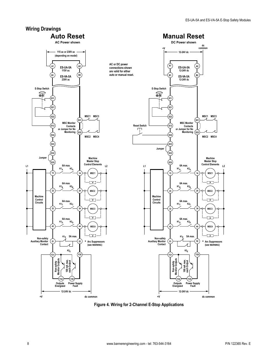 medium resolution of auto reset manual reset wiring drawings figure 4 wiring for 2 rh manualsdir com 230v single phase wiring diagram 230v single phase wiring diagram