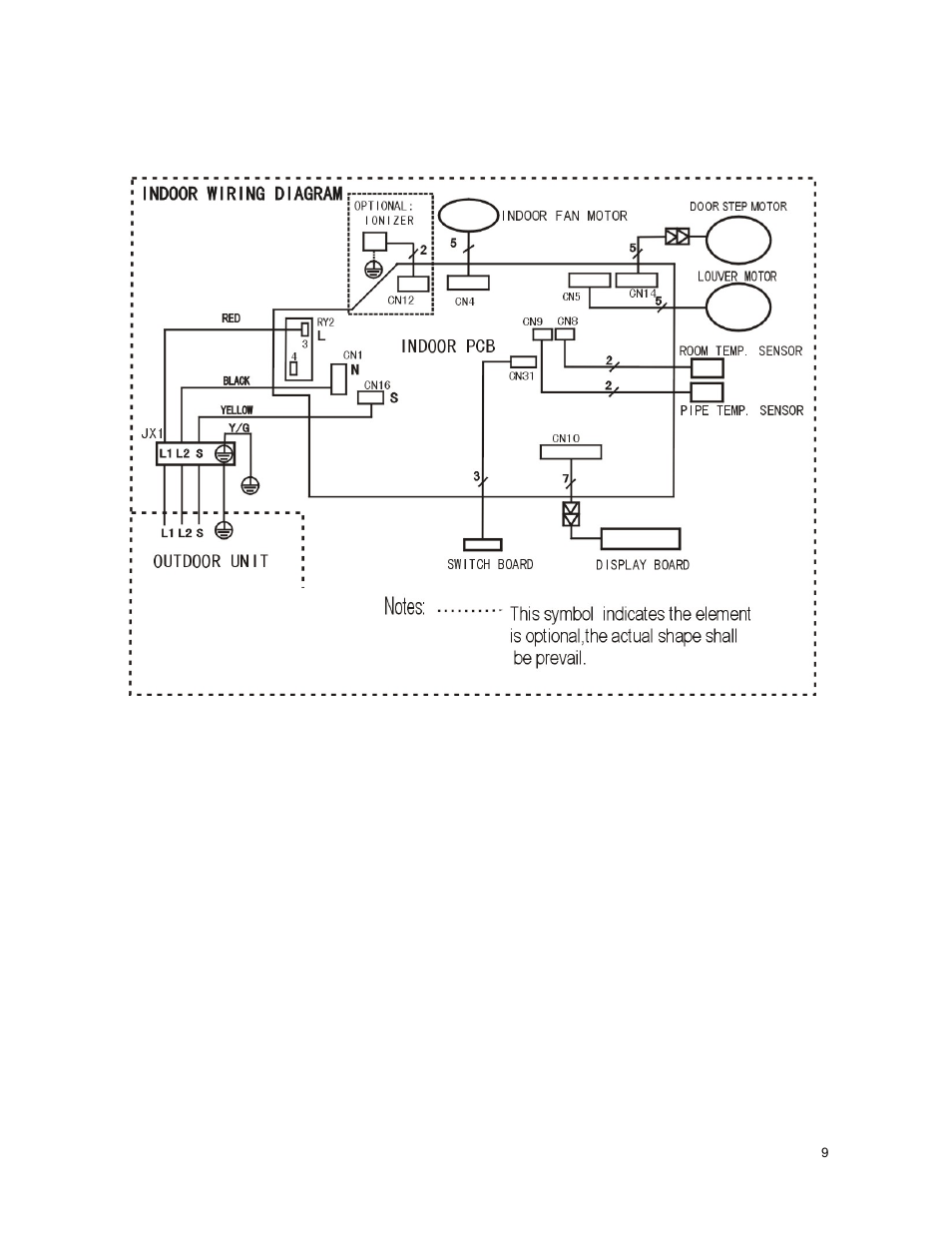 hight resolution of wiring diagram 1 indoor unit klimaire ksim series service manual user manual page
