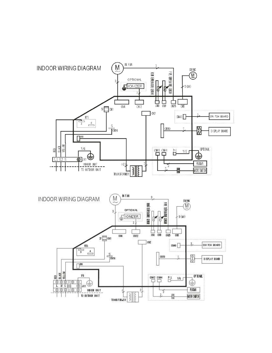 medium resolution of wiring diagram klimaire ksil024 h219 service manual user manual page 16 59