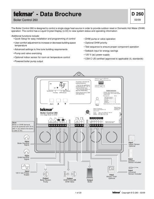 small resolution of tekmar 260 boiler control user manual 20 pages tekmar wiring diagram tekmar wiring diagram