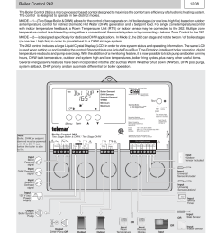 tekmar 262 boiler control installation user manual 36 pages basic wiring diagram [ 954 x 1235 Pixel ]