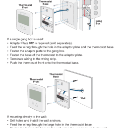 mounting the thermostat if mounting directly to the wall if a tekmar 518 wiring diagram [ 954 x 1475 Pixel ]