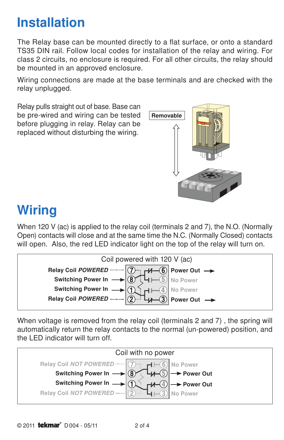 medium resolution of tekmar wiring diagram wiring diagrams lolwiring installation tekmar 004 relay user manual page 2 4