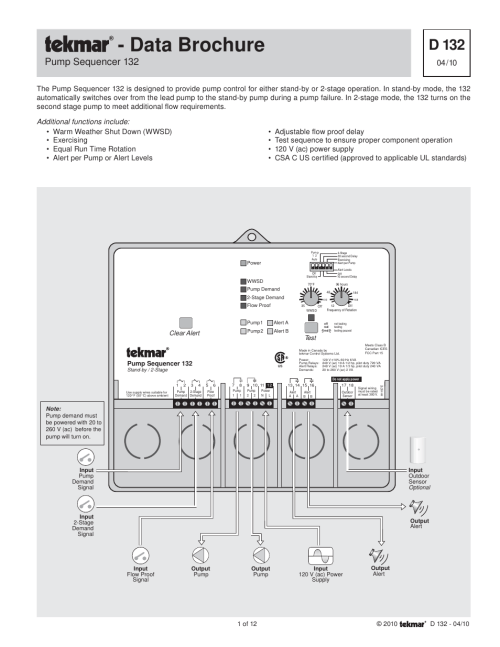 small resolution of tekmar 132 pump sequencer user manual 12 pages tekmar wiring diagram