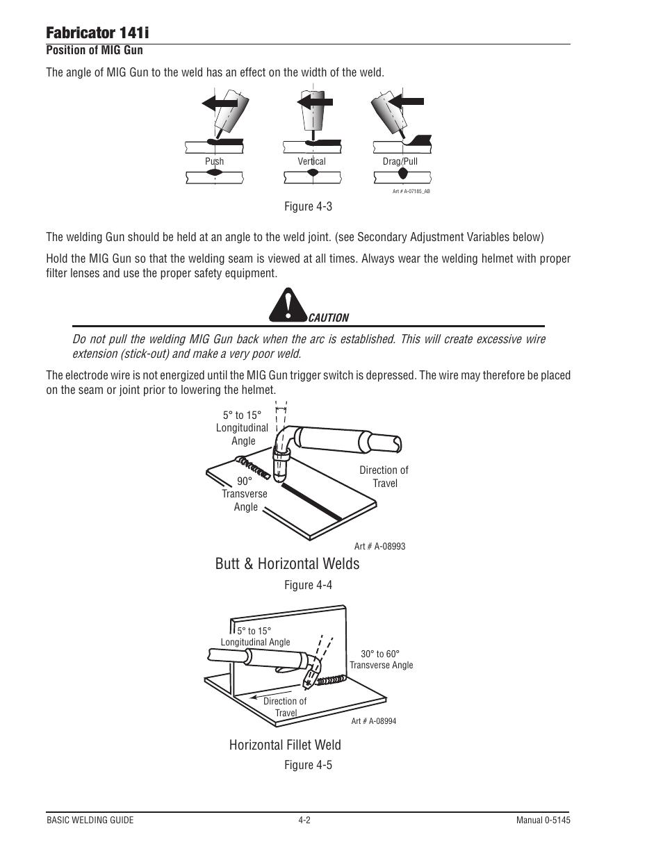 hight resolution of fabricator 141i butt horizontal welds horizontal fillet weld tweco 141i fabricator user manual page 62 104
