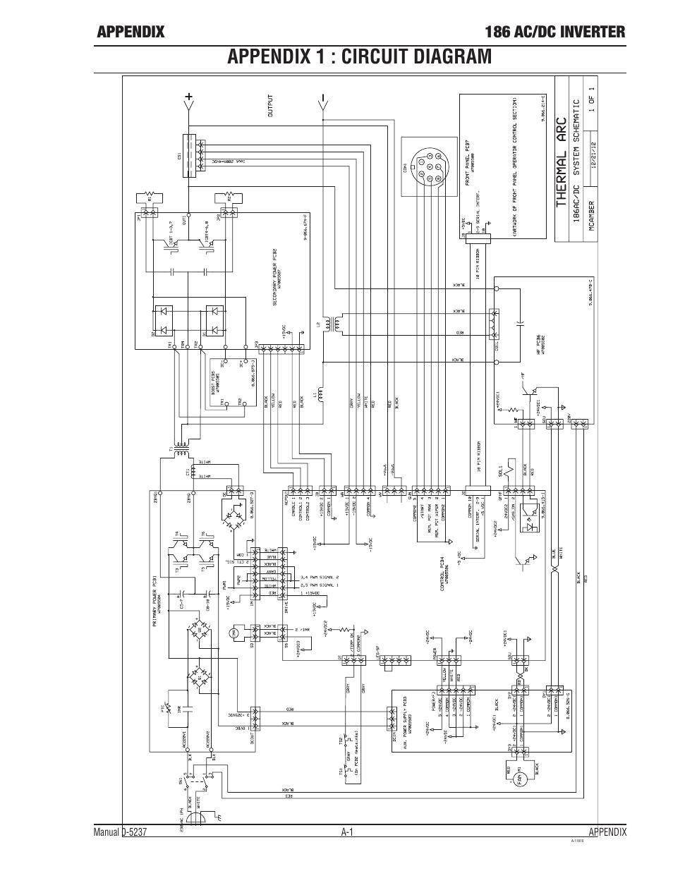 Ap0-5143-apendix, Appendix 1 : circuit diagram, Appendix