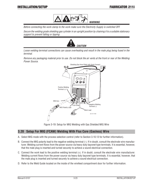 small resolution of installation setup fabricator 211i tweco 211i thermal arc fabricator user manual page 55 96