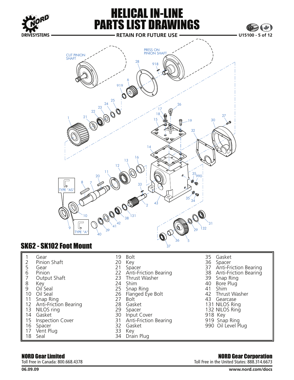 medium resolution of helical in line parts list drawings nord gear corporation nord gear limited viking pump nord tsm for helical inline reducers user manual page 22 29