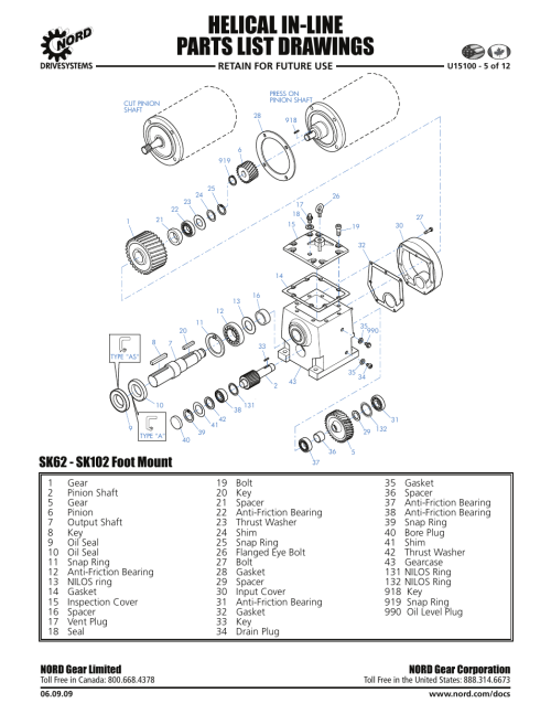 small resolution of helical in line parts list drawings nord gear corporation nord gear limited viking pump nord tsm for helical inline reducers user manual page 22 29