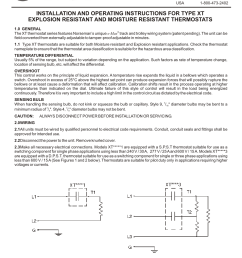 cci thermal technologies xtk 12 thermostat installation kit process heating applications user manual 2 pages also for xtk 04 thermostat  [ 954 x 1235 Pixel ]