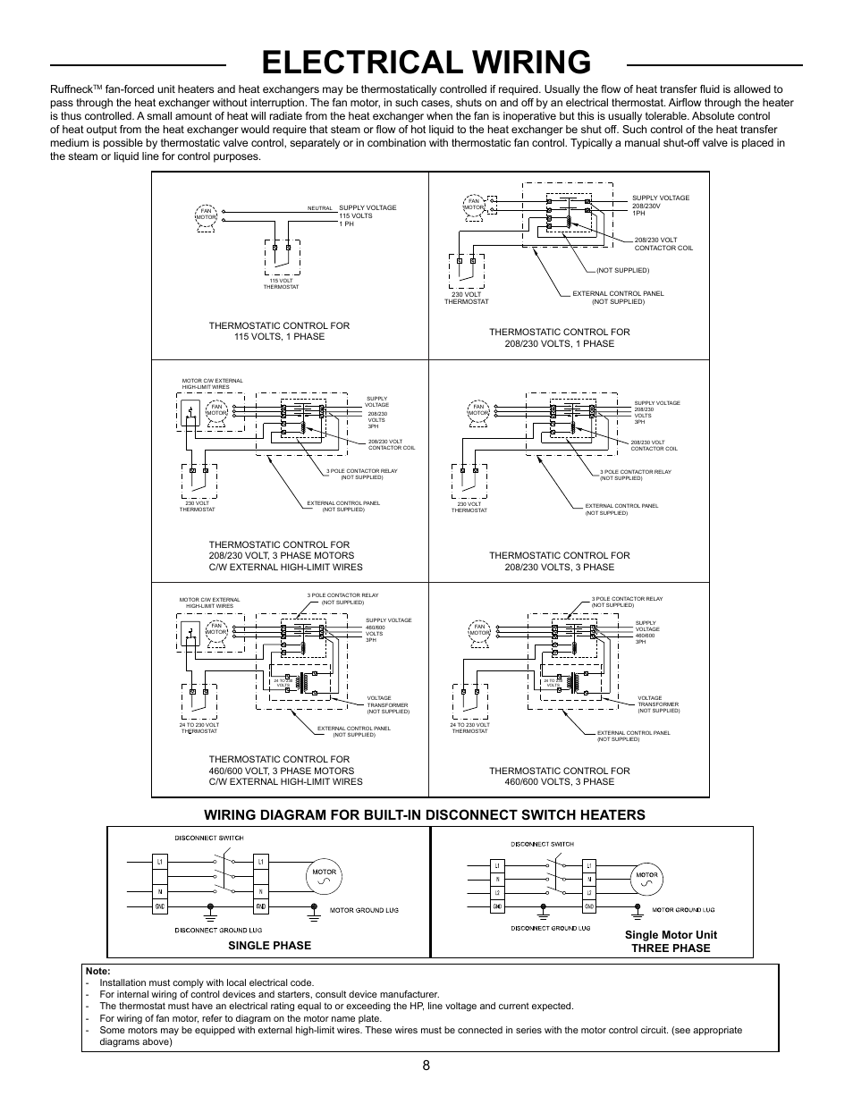 hight resolution of electrical wiring ruffneck single phase single motor unit three phase cci thermal technologies