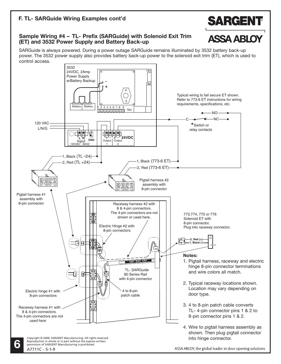 medium resolution of f tl sarguide wiring examples cont d sargent al alarmed exit