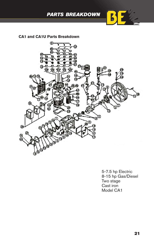 BE Pressure supply 30 Gallon Diesel Compressor / Welder