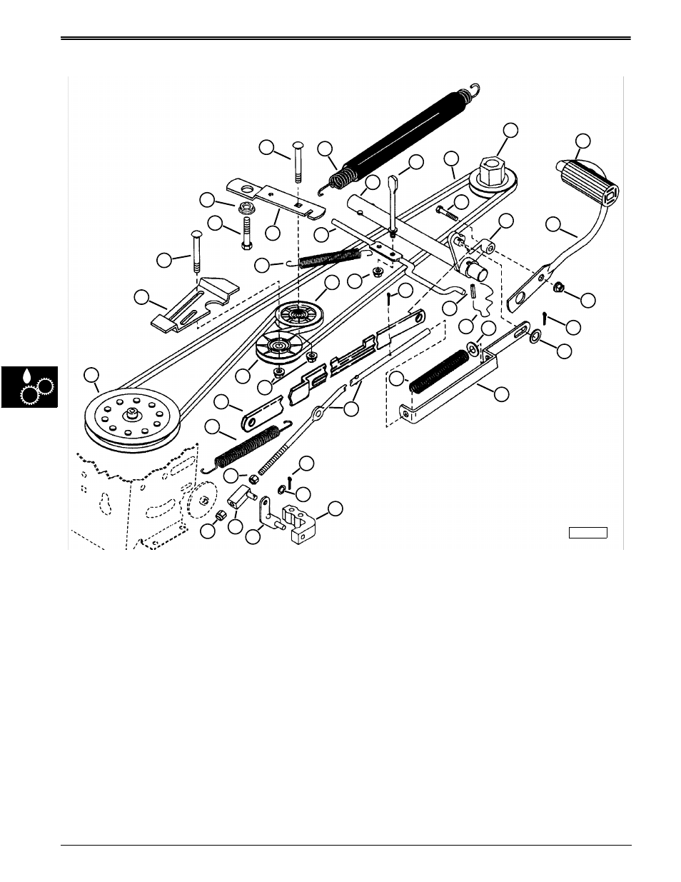 Traction drive system component location, Component