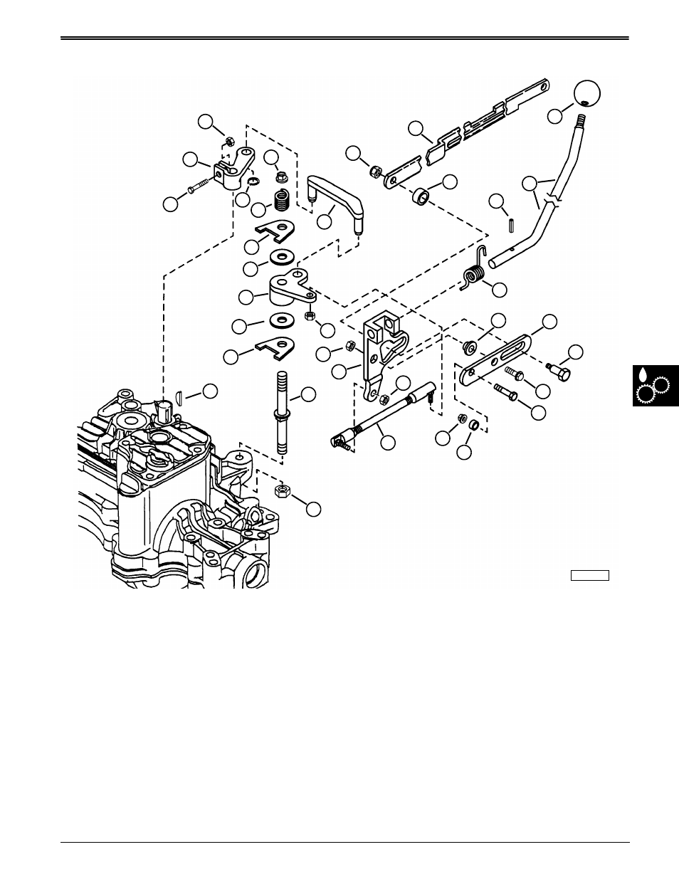 Shift linkage system component location, Component