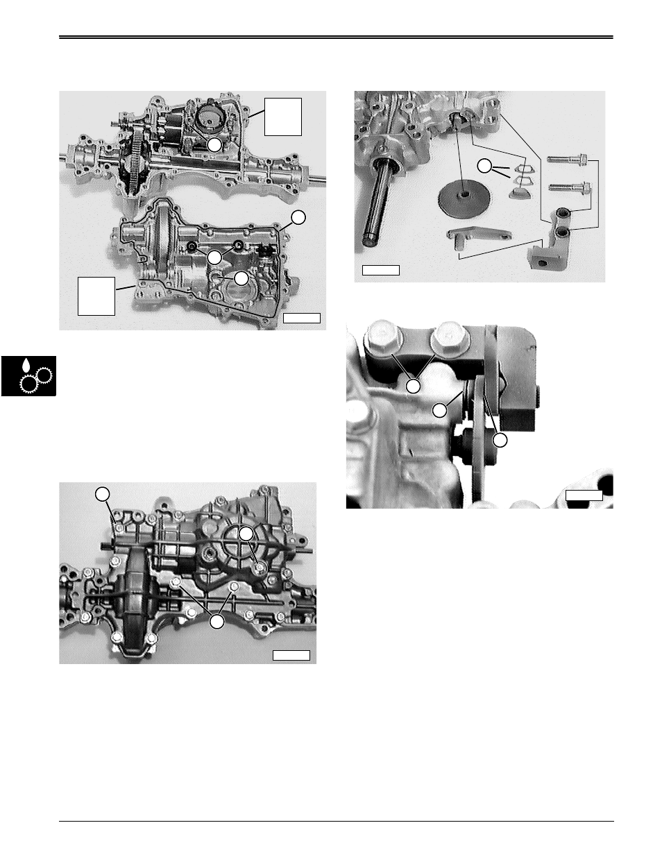 Transaxle case halves— assembly, Brake assembly