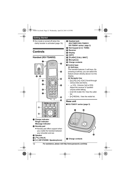 KX TG1100SA USER MANUAL