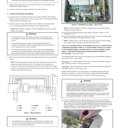 c conduit connection and wiring warning cooper lighting elps502 user manual page 3 24 [ 954 x 1235 Pixel ]
