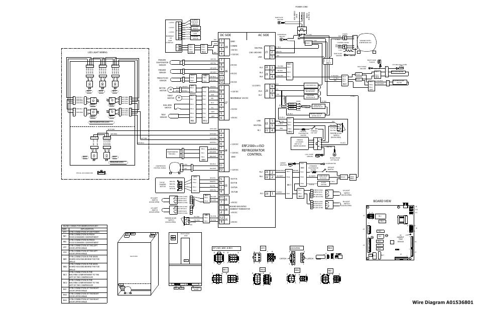 Erf2500++iso refrigerator control, Ac side dc side, Board