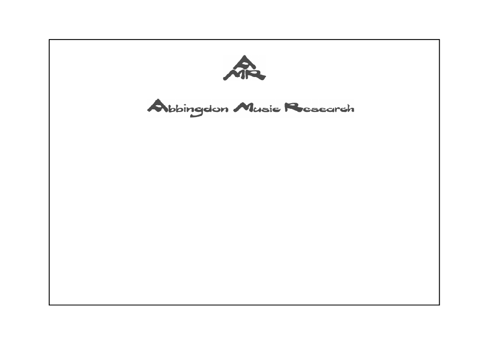 Abbingdon Music Research DP-777 Premier Class User Manual