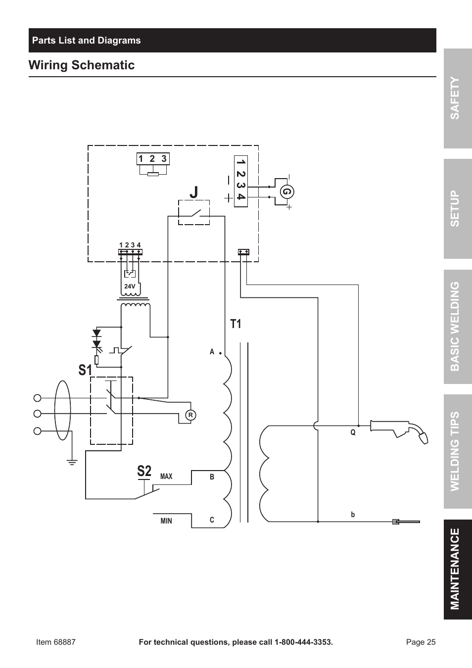 hight resolution of s2 s1 wiring schematic chicago electric 90 amp flux wire welder lincoln 225 welder wiring
