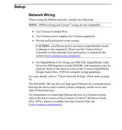setup network wiring crestron electronic digitalmedia room controller dm rmc 100 user manual page 22 44 [ 954 x 1235 Pixel ]