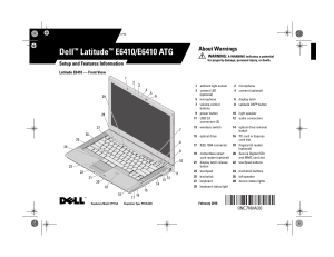 Dell Latitude E6410 User Manual | 8 pages | Also for: Latitude E6410 ATG