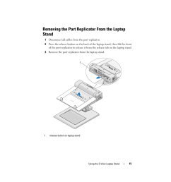 removing the port replicator from the laptop stand dell e view laptop stand user manual page 15 20 [ 954 x 1235 Pixel ]