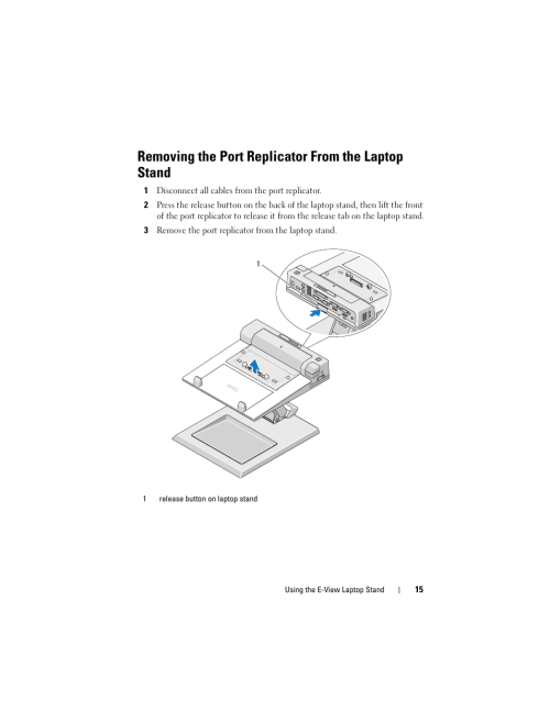 small resolution of removing the port replicator from the laptop stand dell e view laptop stand user manual page 15 20
