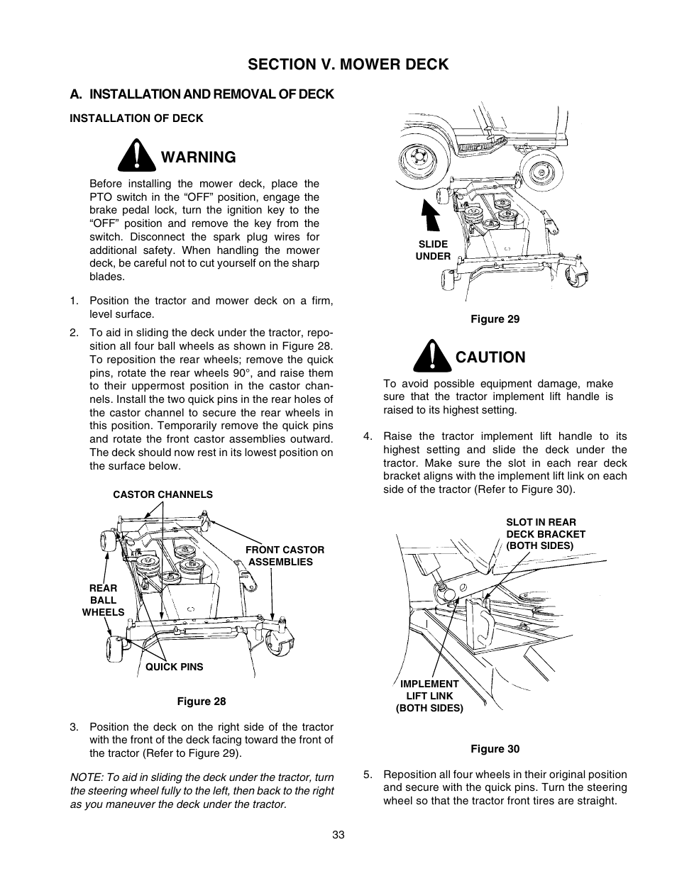 medium resolution of warning caution cub cadet 2206 user manual page 33 60