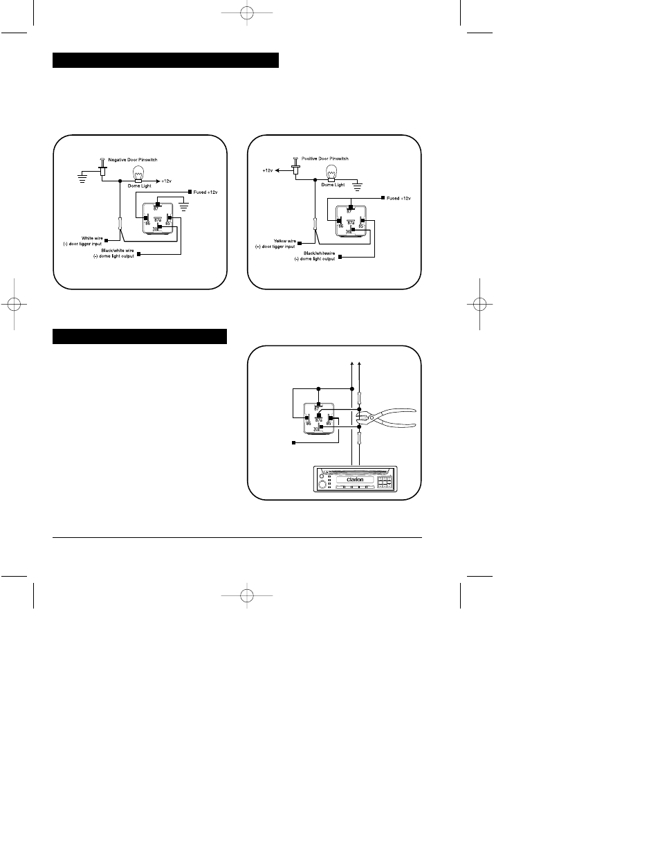 medium resolution of dome light control relay diagrams auxiliary function 2 output clarion ungo ms3001 user manual page 20 26