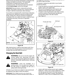 hydrostatic transmission changing the deck belt cub cadet slt1554 user manual page 27 40 [ 954 x 1235 Pixel ]