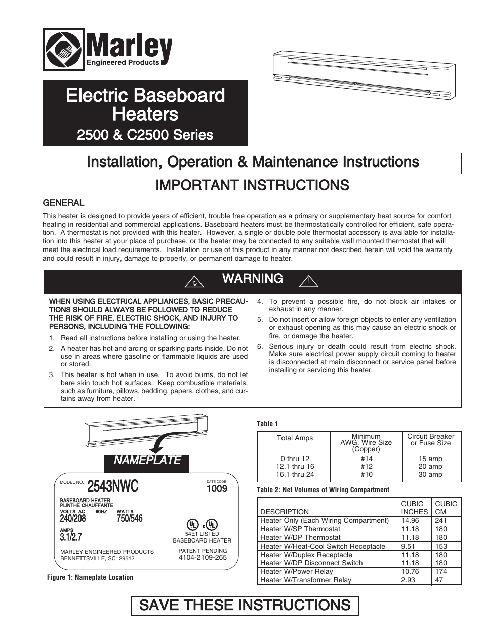hight resolution of qmark qmkc series electric commercial baseboard heaters user manual 12 pages also for 2500 series electric baseboard heaters