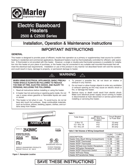 small resolution of qmark qmkc series electric commercial baseboard heaters user manual 12 pages also for 2500 series electric baseboard heaters