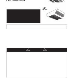 qmark cdf commercial downflow ceiling mounted heaters user manual 6 pages [ 954 x 1235 Pixel ]