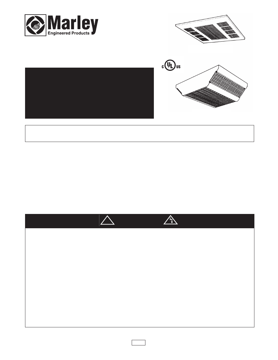 hight resolution of qmark cdf commercial downflow ceiling mounted heaters user manual 6 pages