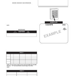 example c2224ifb caution qmark cra series residential fan forced zonal wall heaters user manual page 3 12 [ 954 x 1235 Pixel ]