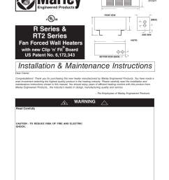 qmark gfr series fan forced wall heaters user manual 12 pages marley engineered products thermostat wiring [ 954 x 1235 Pixel ]