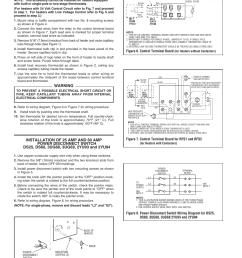 warning figure 6 control terminal board qmark muh horizontal downflow unit [ 954 x 1235 Pixel ]