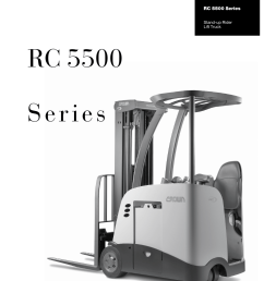 crown equipment stand up rider lift truck rc 5500 series user manual 6 pages [ 954 x 1227 Pixel ]