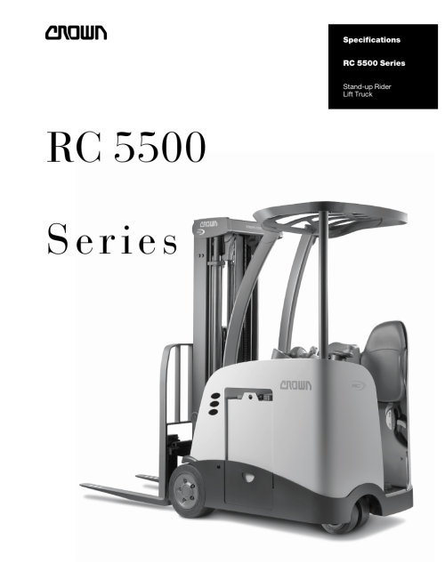 small resolution of crown equipment stand up rider lift truck rc 5500 series user manual 6 pages
