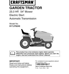 craftsman gt 5000 garden tractor part [ 954 x 1235 Pixel ]