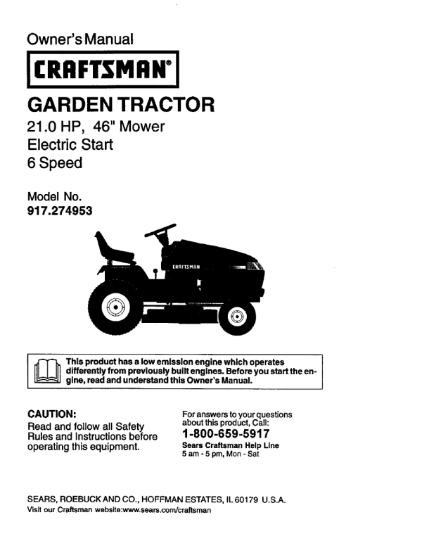 Craftsman Electric Lawn Mower Manual - Year of Clean Water
