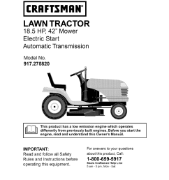 old craftsman riding lawn mower 1 2 hp wiring diagram [ 954 x 1235 Pixel ]